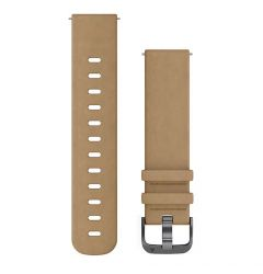 Curea Garmin Smartwatch Garmin Quick Release Leather Beige 20mm
