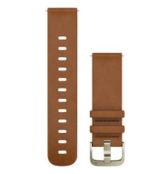 Curea Garmin Smartwatch Garmin Quick Release Leather Light Brown 20mm