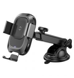 Suport Auto Wireless Charger Baseus Smart Black
