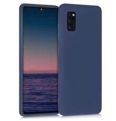 Husa Samsung Galaxy A41 Lemontti Silicon Silky Albastru Inchis