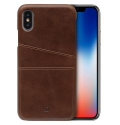 Husa iPhone XS / X Just Must V Pocket Brown
