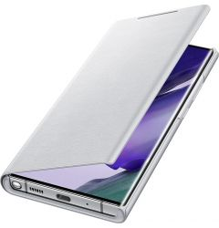 Husa Samsung Galaxy Note 20 Ultra Samsung Book Led View White Silver