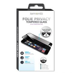 Folie iPhone 12 Mini Lemontti Sticla Privacy Black