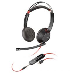 Casti USB-C sau Jack 3.5mm Plantronics Stereo BlackWire 5220, C5220