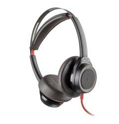 Casti Original USB-A sau Jack Plantronics Stereo BlackWire 7225, BW7225 Black