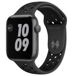Watch Original Apple Nike SE GPS 44mm Space Gray Aluminium Case Anthracite/Black Nike Sport Band
