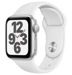 Watch Original Apple SE GPS 40mm Silver Aluminium Case White Sport Band
