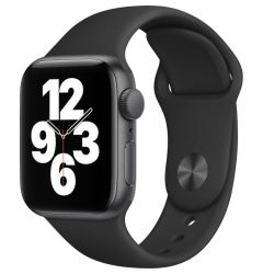 Watch Original Apple SE GPS 40mm Space Gray Aluminium Case Black Sport Band