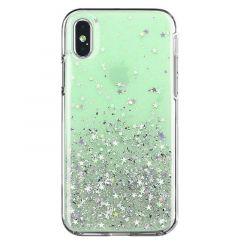Husa Xiaomi Redmi Note 9 / Redmi 10X 4G Wozinsky Star Glitter Verde