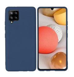 Husa Samsung Galaxy A42 5G Lemontti Silicon Silky Albastru Inchis
