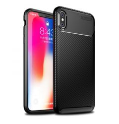 Husa iPhone XS / X Lemontti Carbon Fiber Black