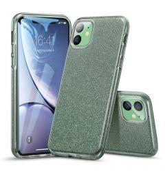 Husa iPhone 11 Esr Makeup Serie Bling Glitter Green