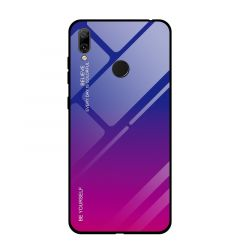 Husa Huawei Y7 2019 Lemontti Gradient Color Glass Red Blue