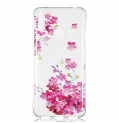 Husa Huawei Y7 Pro 2019 Lemontti Pattern Highly Red Plum Blossom