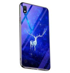 Husa Samsung Galaxy A30 Lemontti Electroplated Edge Blue Light Glass Star Elk