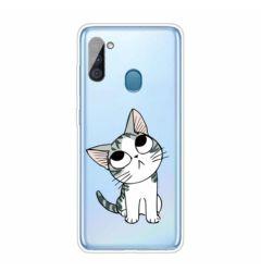 Husa Samsung Galaxy A11 Lemontti Pattern Highly Cat