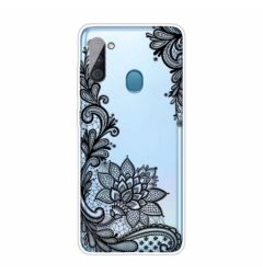 Husa Samsung Galaxy A11 Lemontti Pattern Highly Black Rose