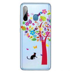 Husa Samsung Galaxy A11 / M11 Lemontti Painted Tree and Cat