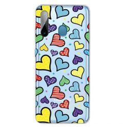 Husa Samsung Galaxy A11 / M11 Lemontti Painted Hearts