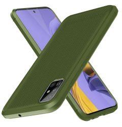 Husa Samsung Galaxy A51 Enkay Carbon Fiber Green