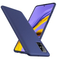 Husa Samsung Galaxy A51 Lenuo Leshen Series Dark Blue