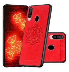 Husa Samsung Galaxy A20s Lemontti Rose Mandala Pattern Red
