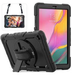 Husa Tableta Samsung Galaxy Tab A 2019 10.1 inch Lemontti Colorful Silica Black