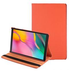 Husa Tableta Samsung Galaxy Tab A 2019 10.1 inch Lemontti Litchi Flip Leather Case Orange
