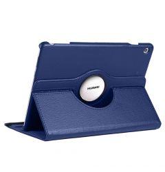 Husa Huawei MediaPad T5 Tableta Huawei MediaPad T5 10.1 inch Lemontti Litchi Flip Leather Case Dark