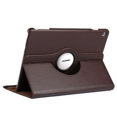Husa Huawei MediaPad T5 Tableta Huawei MediaPad T5 10.1 inch Lemontti Litchi Flip Leather Case Brown