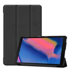 Husa Tableta Samsung Galaxy Tab A 2019 8 inch Lemontti Custer Texture Leather Case Black