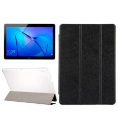 Husa Huawei MediaPad T3 Tableta Huawei T3 9.6 inch Lemontti Flip Leather Case Silk Texture Black