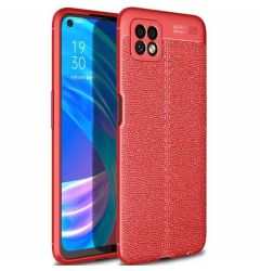Husa Oppo A72 5G Lemontti Litchi Red