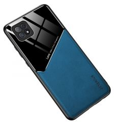 Husa Oppo A72 Lemontti Leather + Organic Glass Royal Blue