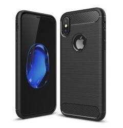 Husa iPhone X / XS Lemontti Carbon Negru