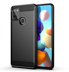 Husa Samsung Galaxy A21s Lemontti Carbon Negru