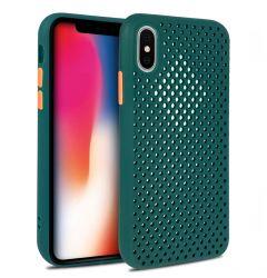Husa iPhone X / XS Lemontti Bubble Verde