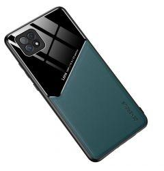 Husa Oppo A72 Lemontti Leather + Organic Glass Green