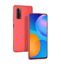 Husa Huawei P Smart 2021 Lemontti Silicon Silky Rosu