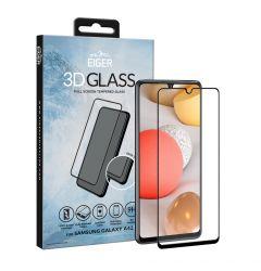 Folie Samsung Galaxy A42 5G Eiger Sticla 3D Edge to Edge Clear Black
