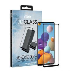 Folie Samsung Galaxy A21s Eiger Sticla 3D Edge to Edge Clear Black