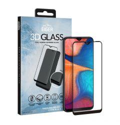 Folie Samsung Galaxy A20e Eiger Sticla 3D Edge to Edge Clear Black