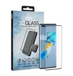 Folie Huawei Mate 40 Pro Eiger Sticla 3D Edge to Edge Clear Black