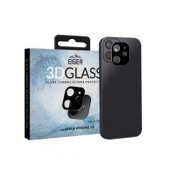 Folie Sticla Camera iPhone 12 Eiger 3D Glass Clear Black