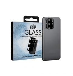 Folie Sticla Camera Samsung Galaxy S20 Plus Eiger 2.5D Glass Clear Black