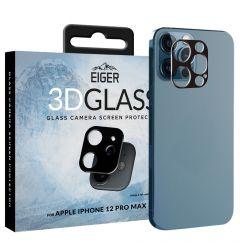 Lentile Camera iPhone 12 Pro Max Eiger 3D Glass Clear Black