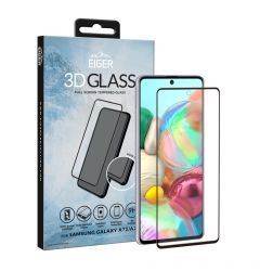 Folie Samsung Galaxy A72 Eiger Sticla 3D Edge to Edge Clear Black
