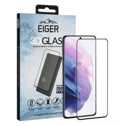 Folie Samsung Galaxy S21 Eiger Sticla 3D Case Friendly Clear Black