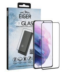 Folie Samsung Galaxy S21 Plus Eiger Sticla 3D Case Friendly Clear Black