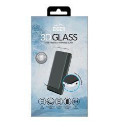 Folie Samsung Galaxy S21 Ultra Eiger Sticla 3D Ultra + Case Friendly Clear Black